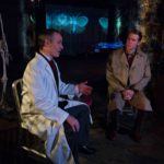 Pictured, L to R: Paul Taylor as Dr. Hartungen, and Teddy Spencer as Jay Spellman.