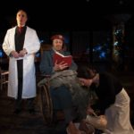 Pictured, L to R: Paul Taylor as Dr. Hartungen, Dennis Raveneau as the General, and Shannon Kearns-Simmons as Emilia.